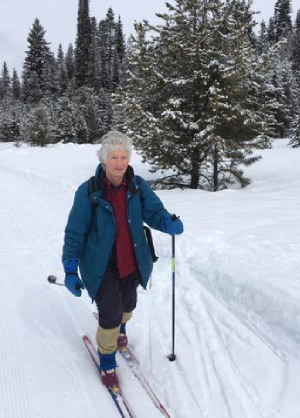 Dawn enjoys a little cross country skiing during some off-time.  Then it's back to taking Smokey Bear orders that will help prevent wildfires next fire season.