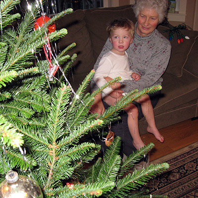Dawn and grandson Everett are ready for Christmas surprises!