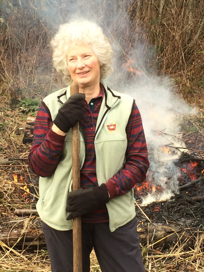 Dawn follows Smokey's rules as she safely reduces the fire risk at her Oregon property.